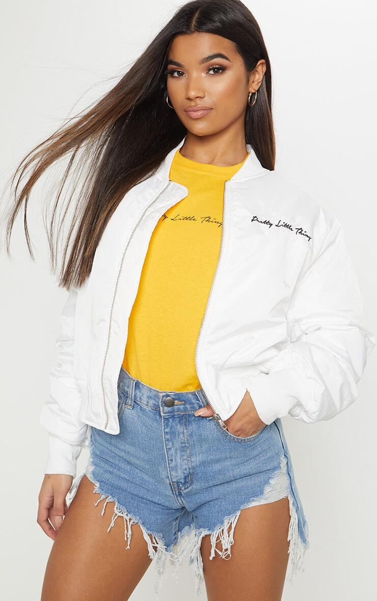 PRETTYLITTLETHING White Oversized Jacket