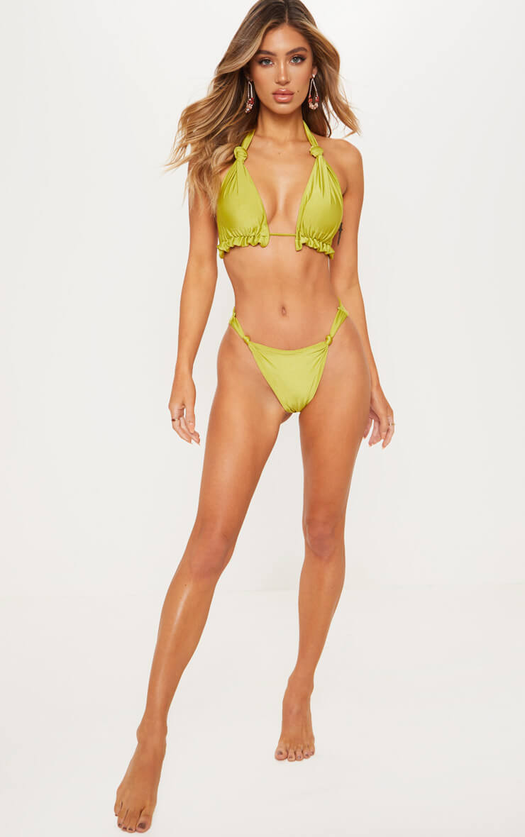 Olive Knotted Bikini Bottom