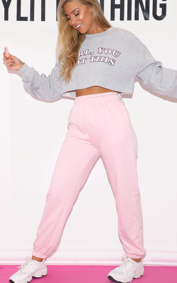 Baby Pink Casual Jogger