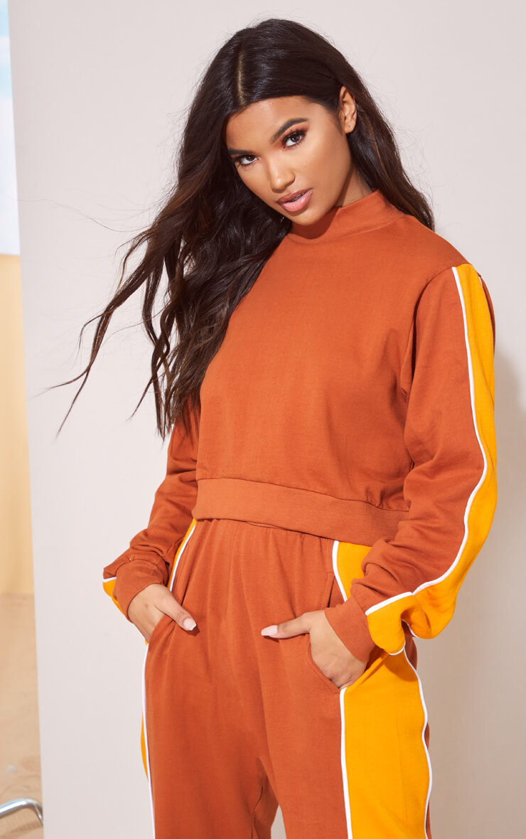 TOFFEE CROP JUMPER