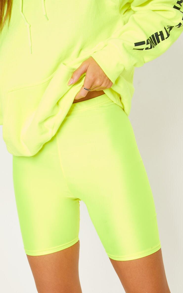 Yellow Neon Cycling Shorts