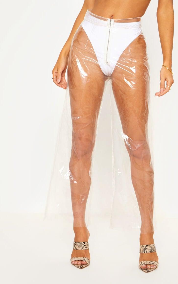 Transparent Zip Front Trousers
