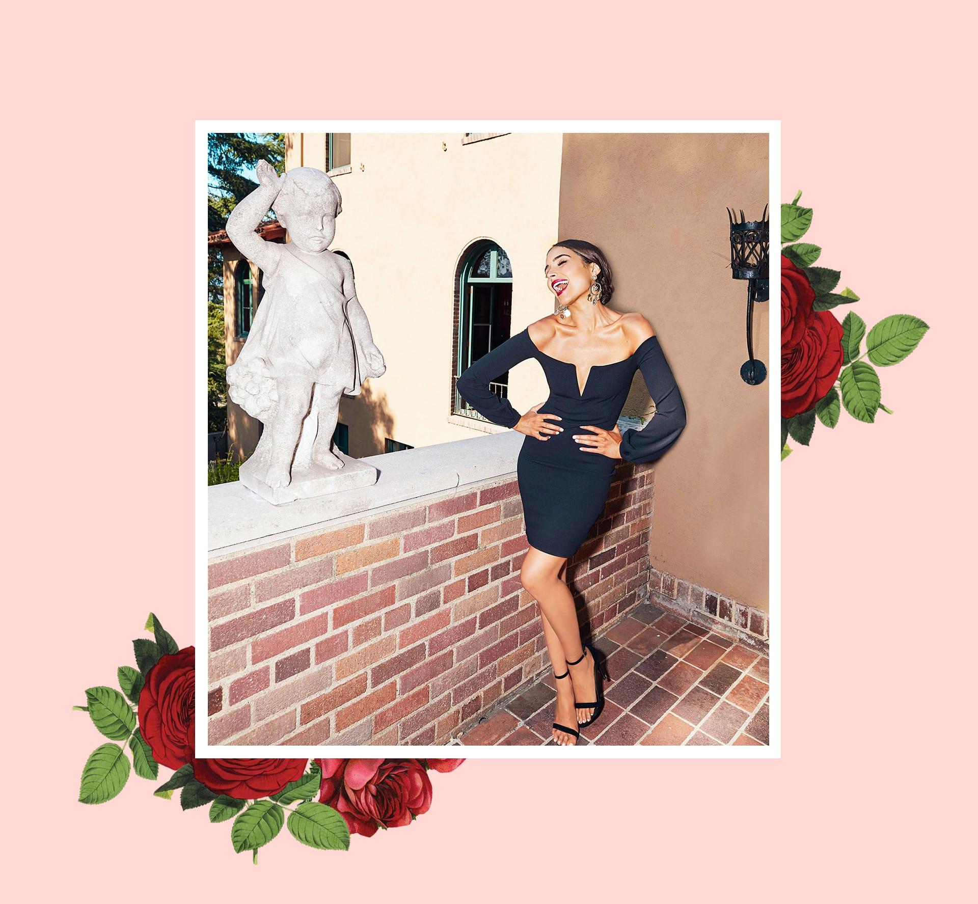 Black Balloon Sleeve Bardot Bodycon Dress