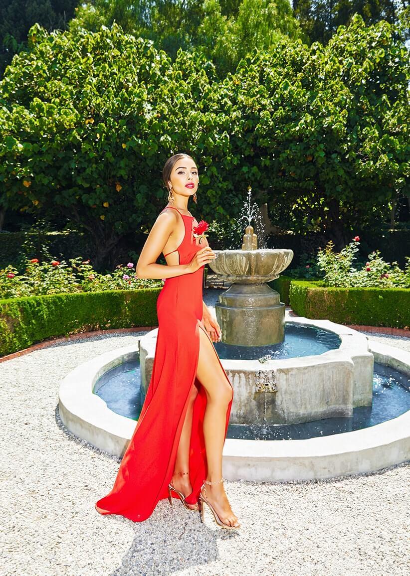 0cf3c0764c Red Strappy Back Detail Chiffon Maxi Dress