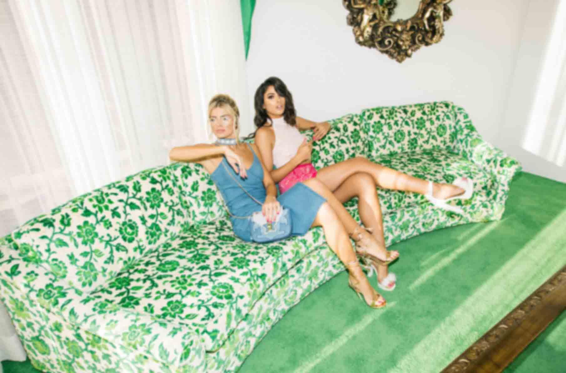 Amalia Blue Strappy Cami Denim Dress, Becky Denim Star Bag, Shea White Fluffy PU Platform Sandals