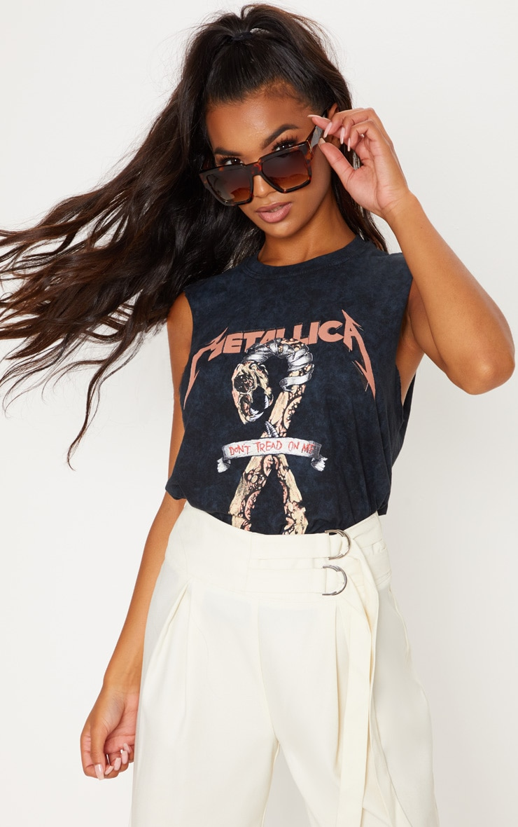 Metallica Slogan Oversized Vest