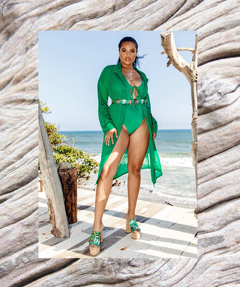 Green Bikini Top and Bottoms