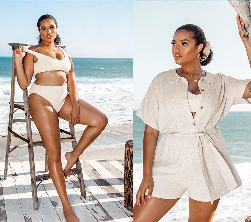 White Bikini Top and Bottom