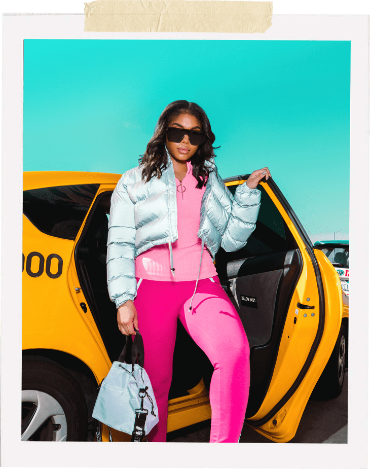 Silver Puffer Jacket , Pink Zip Up Top