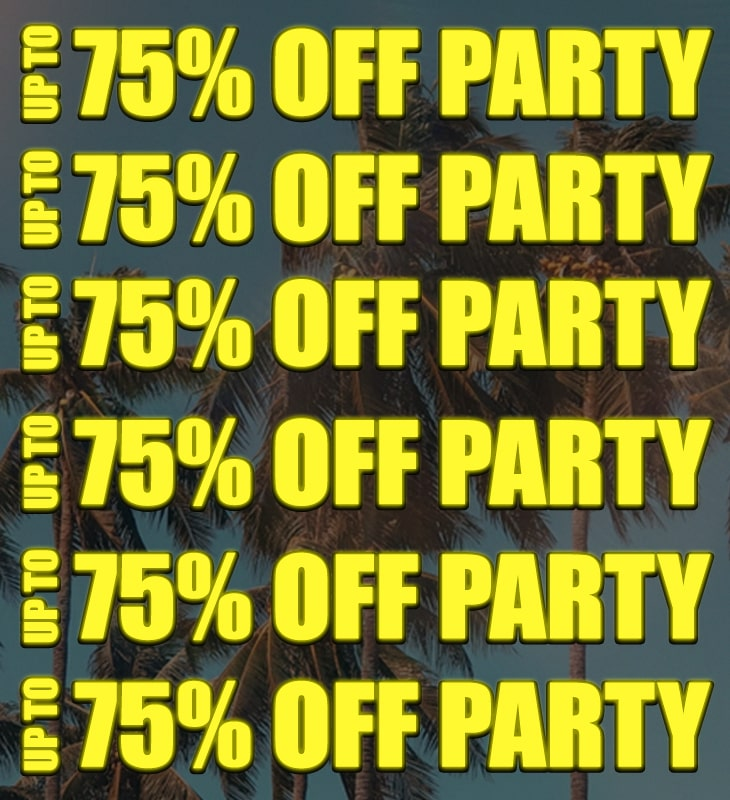 upto 70% off party