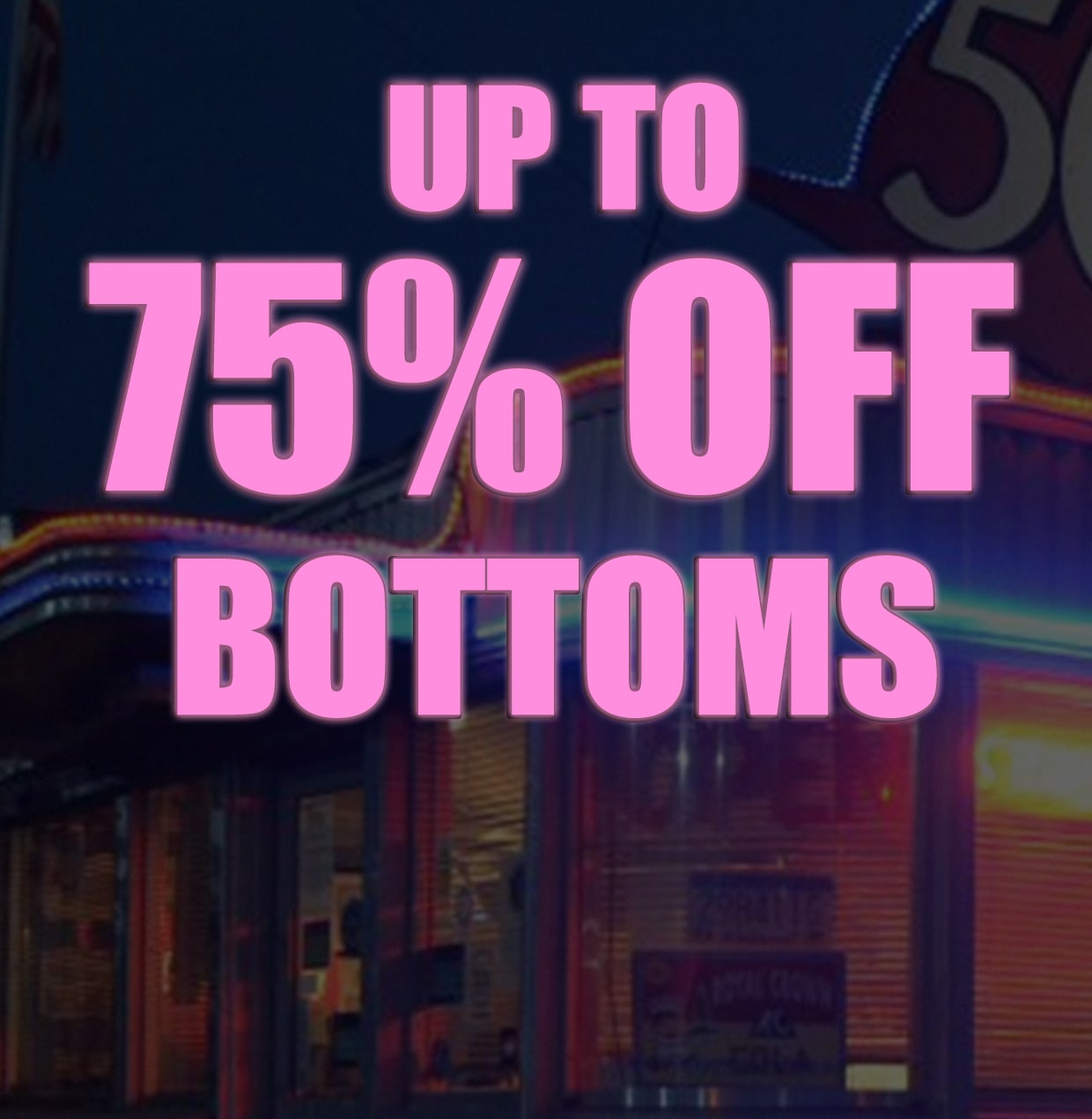 upto 60% off everything
