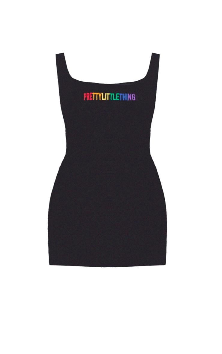 PRETTYLITTLETHING Black Pride Bodycon Dress