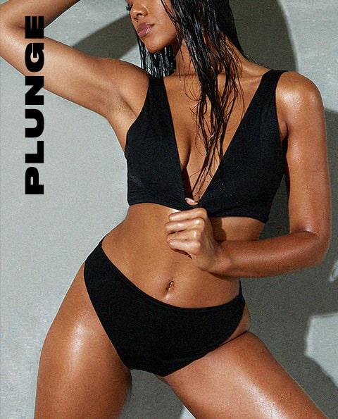 Swimwear Tops Plunge