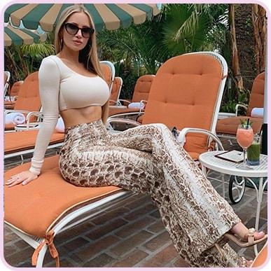 @amandaeliselee Brown Snake Print Wide Leg Trouser
