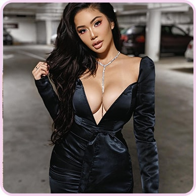 @msashleyvee Black Satin V Bar Drape Bodycon Dress