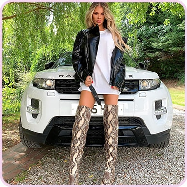 @chloe_simsstarship Snake Knee High Boot