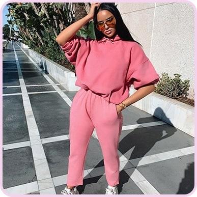 @yasmindechristie Pink Washed Oversized Hoodie