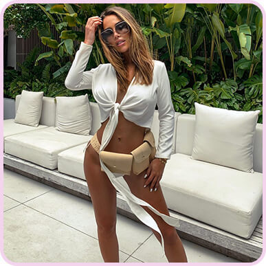 @johannaeeolsson White Tie Front Long Sleeve Crop Top