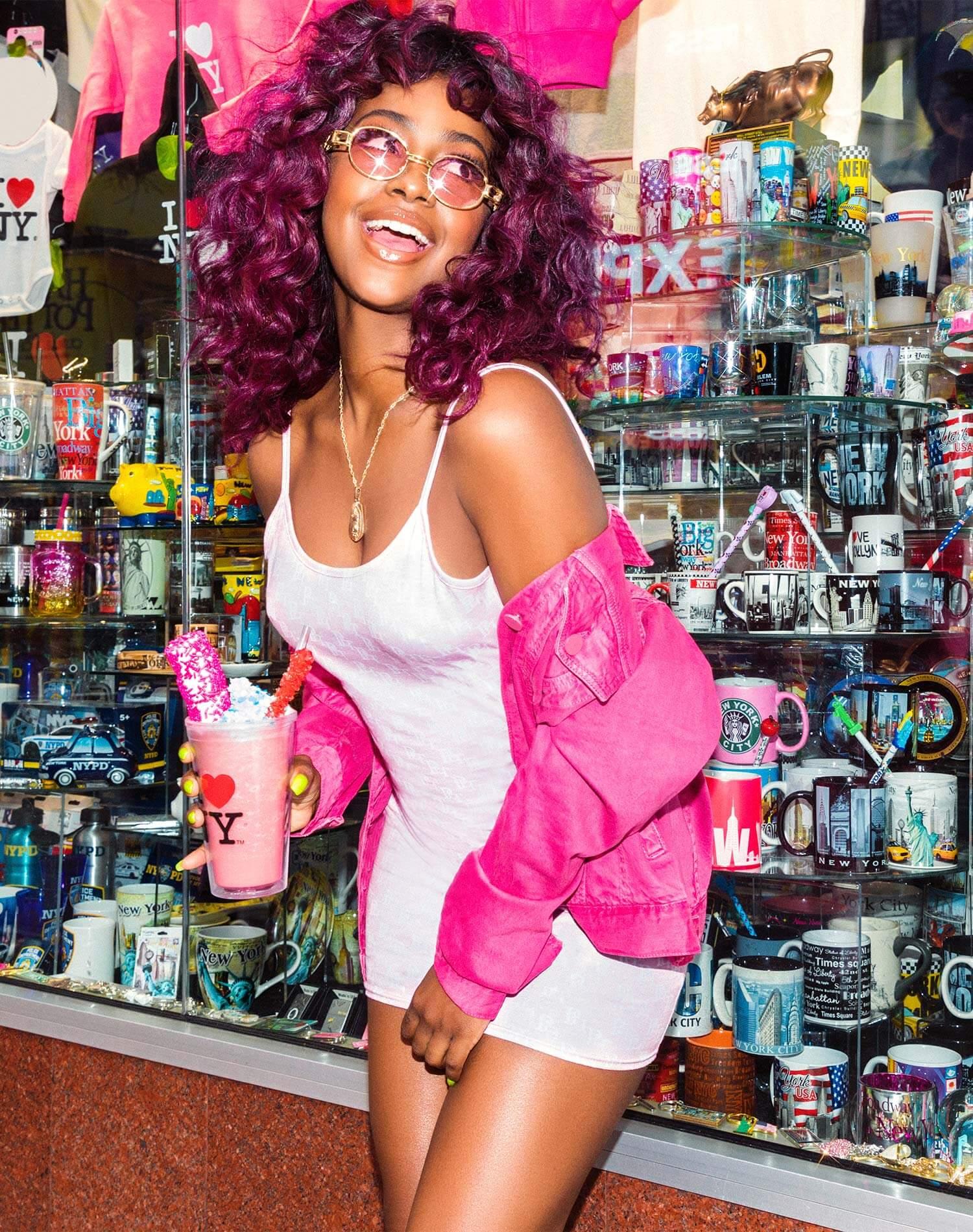 Justine Skye Shoot 16 Light Pink Bodycon Dress Mobile