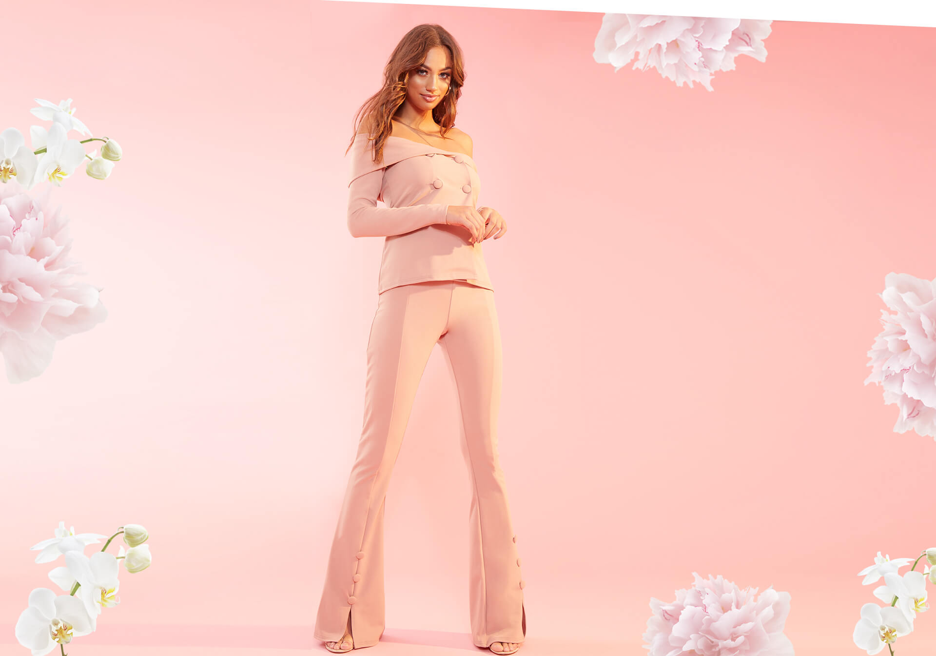 Occasionwear Shoot 7 Light Pink Top & Trousers Desktop