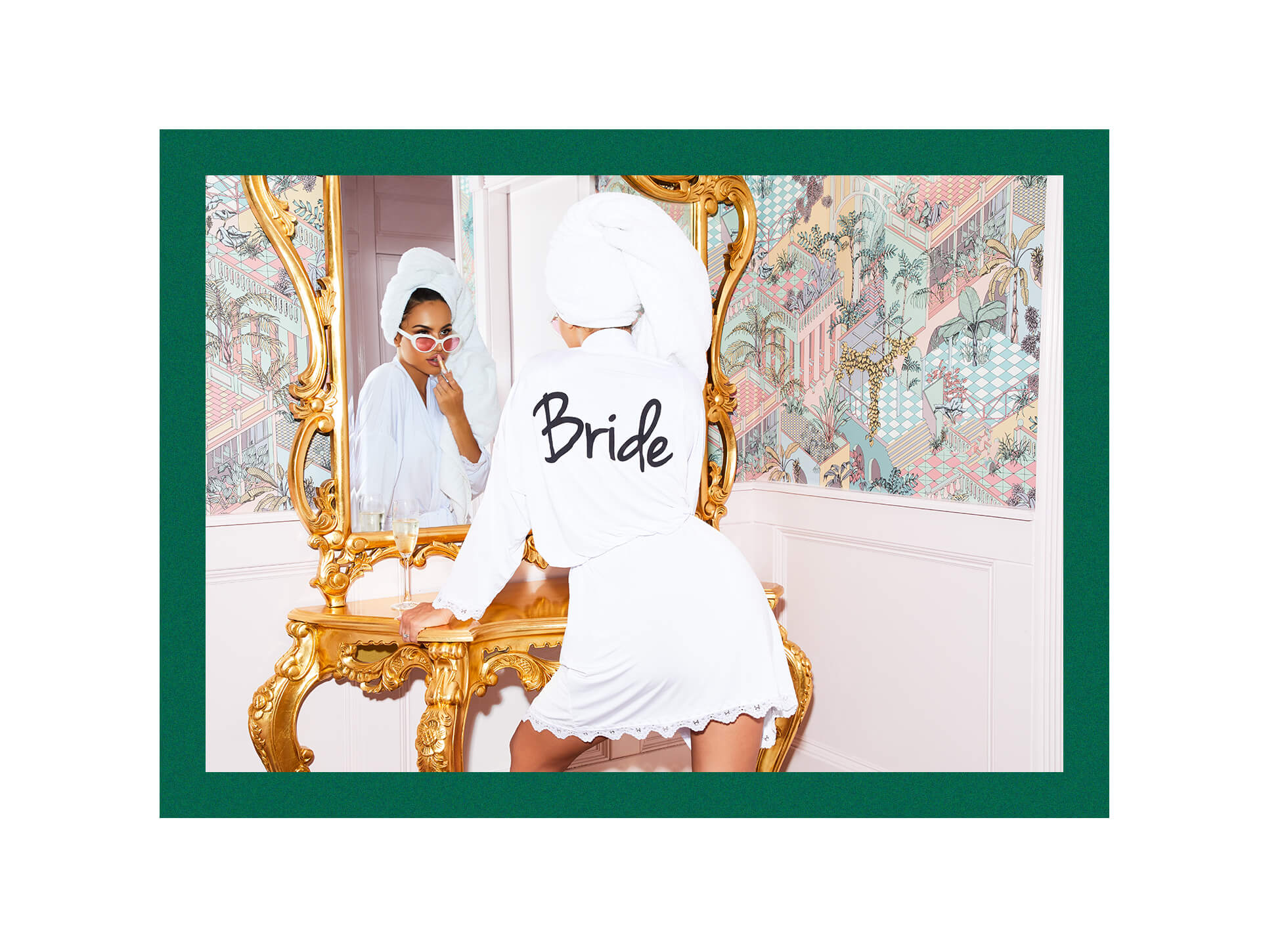 Bride Robe and Sunglasses Lookbook Image