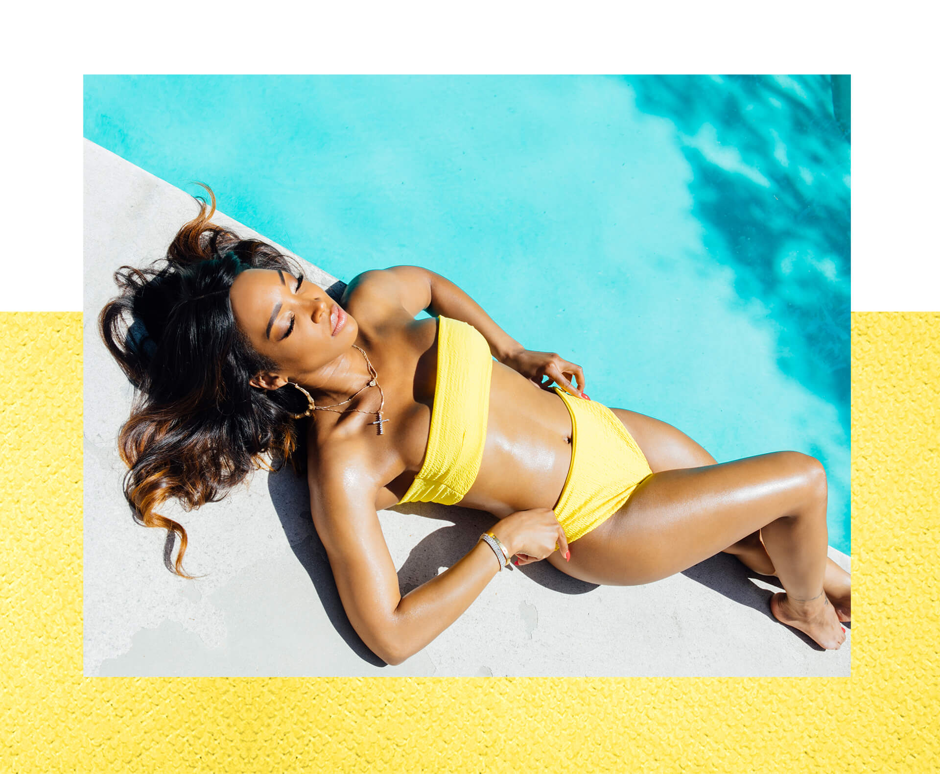 Malika haqq swimwear lookbook shoot 4 mobile