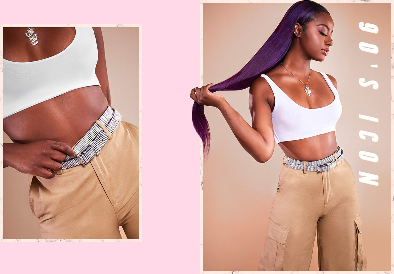 White Crop Top & Beige Cargo Trousers desktop 7