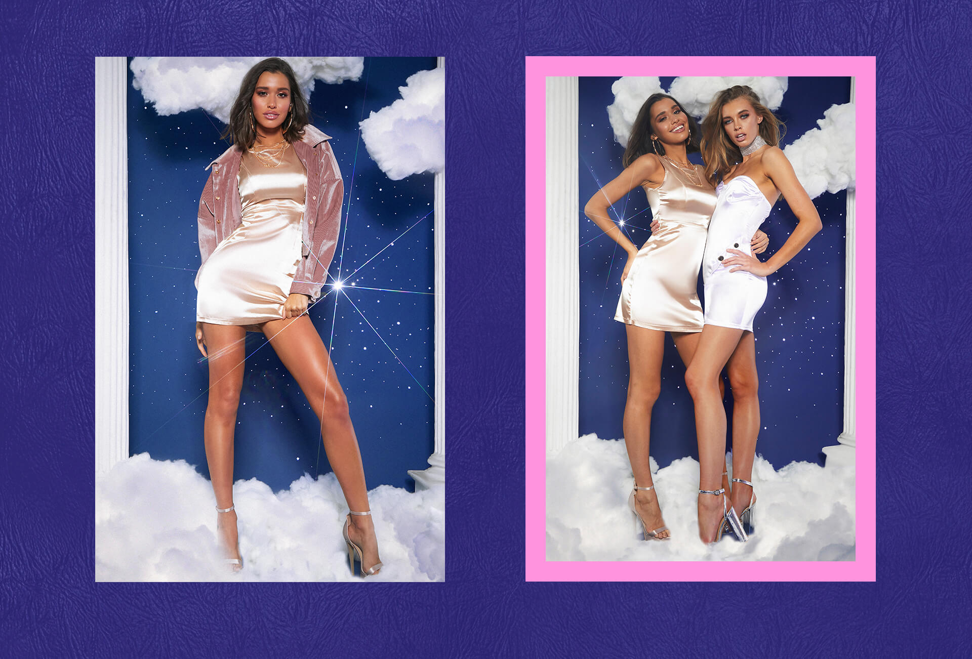 prom feature pink jacket and gold bodycon dress lookbook image 5
