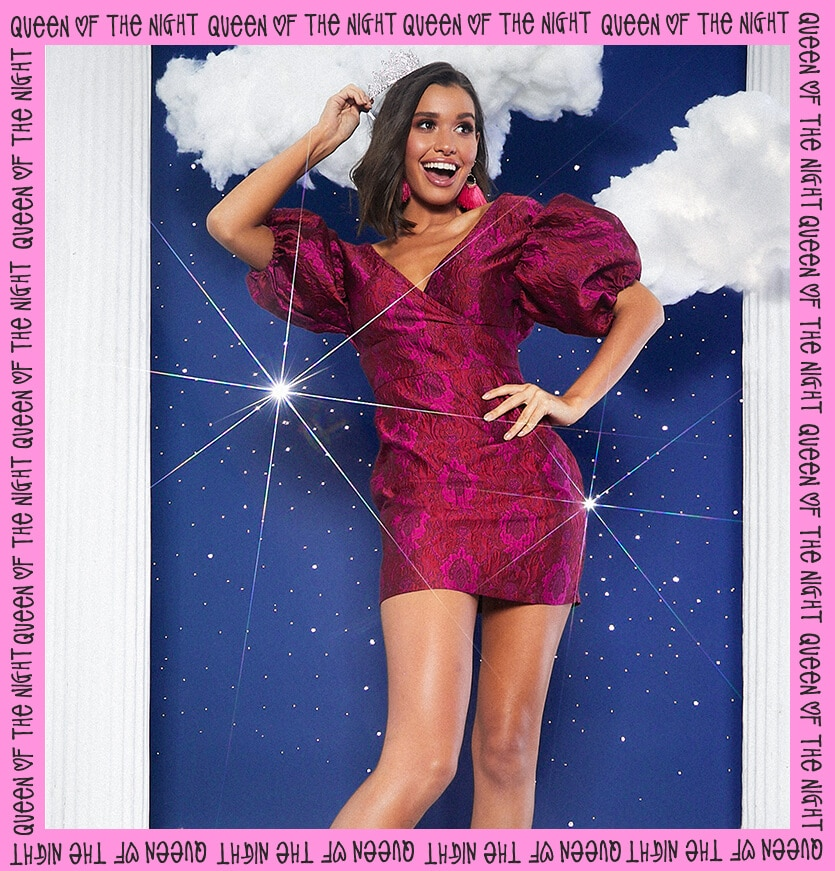 prom feature puff pink dress lookbook image 6