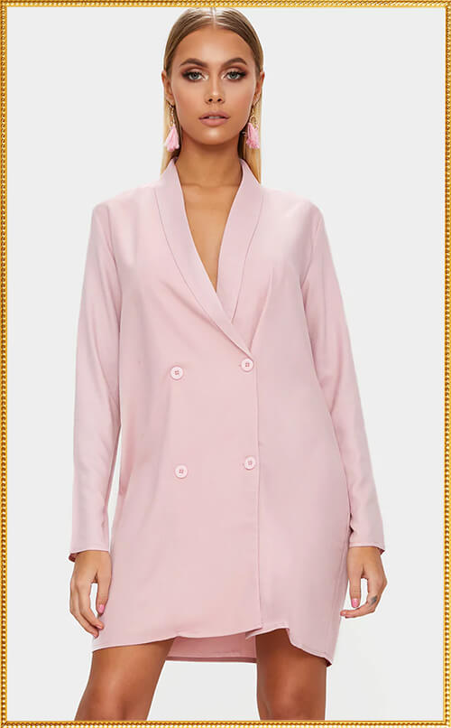 DUSTY PINK BLAZER SHIFT DRESS
