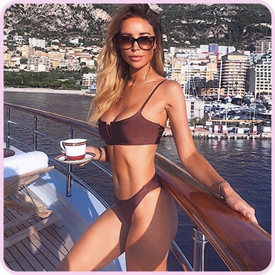 @laurenpopey Chocolate Contrast V-Wire Bikini Top