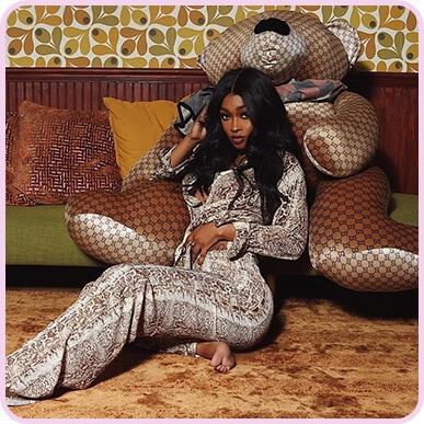 @miraclewatts00 Pantalon évasé marron imprimé serpent
