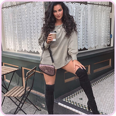 @nataliehalcro Sage Green Oversized Sweater Dress