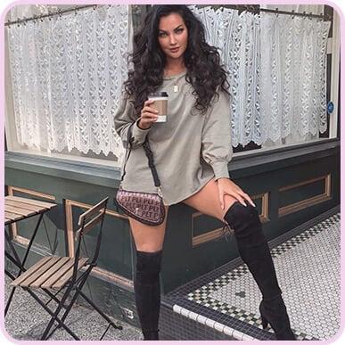 @nataliehalcro Sage Green Oversized Sweater Dress