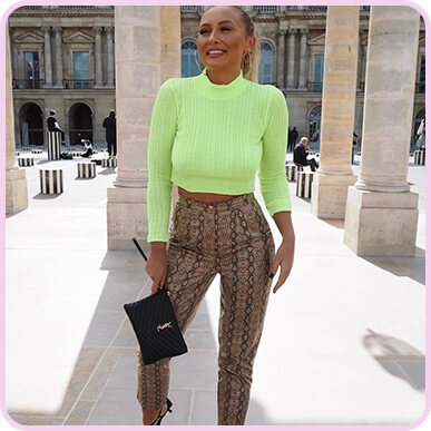 @sarahhashcroft Neon Lime Ribbed Cropped Knitted Jumper