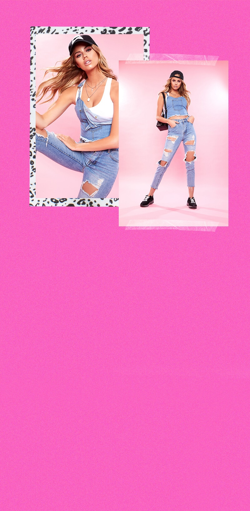 blue denim top & denim jeans student style image